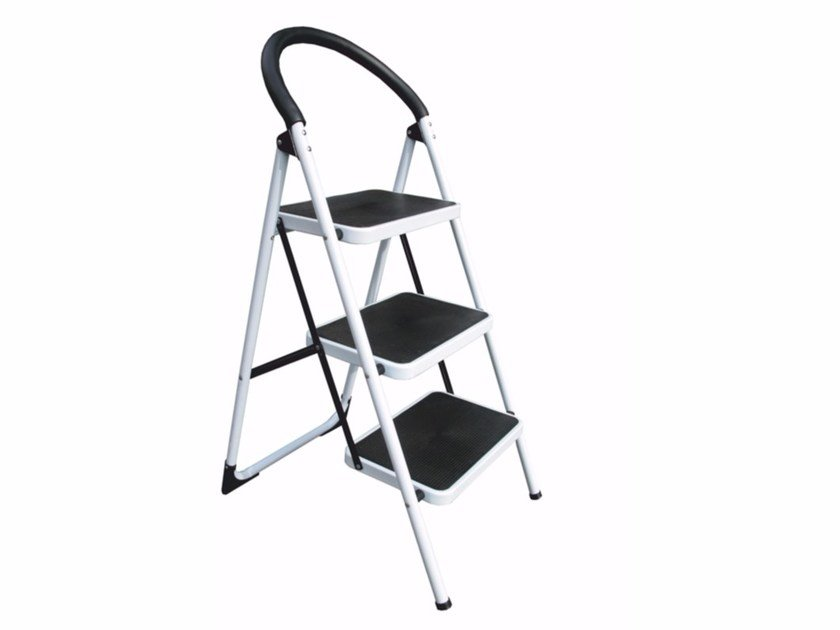 Folding steel step stools WK by Frigerio Carpenterie