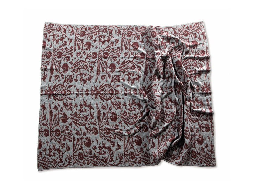 Blanket with floral pattern QUEEN | Blanket by Atipico