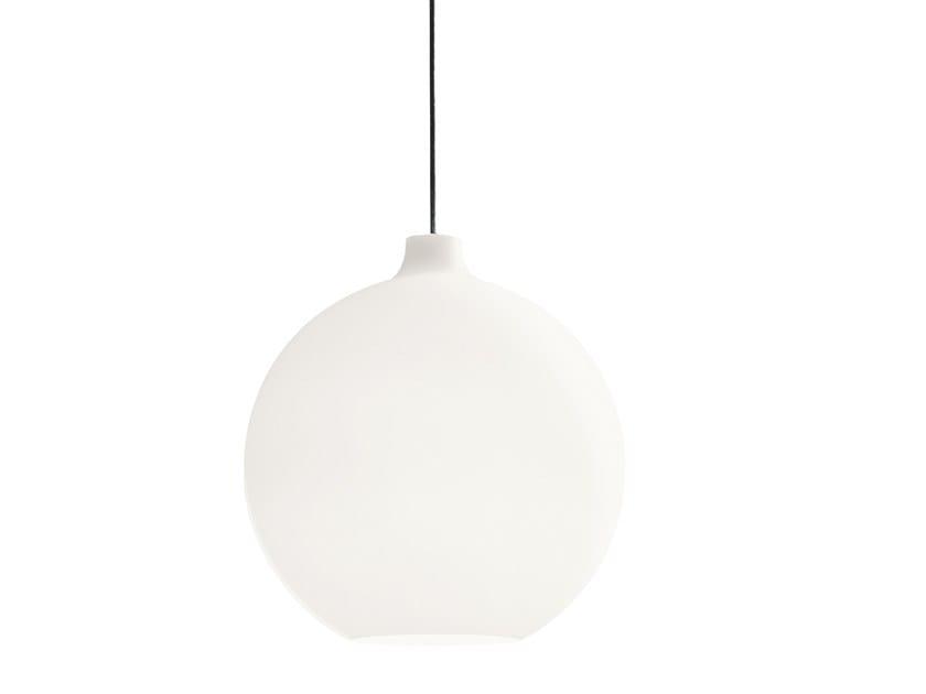 Direct light opal glass pendant lamp WOHLERT by Louis Poulsen