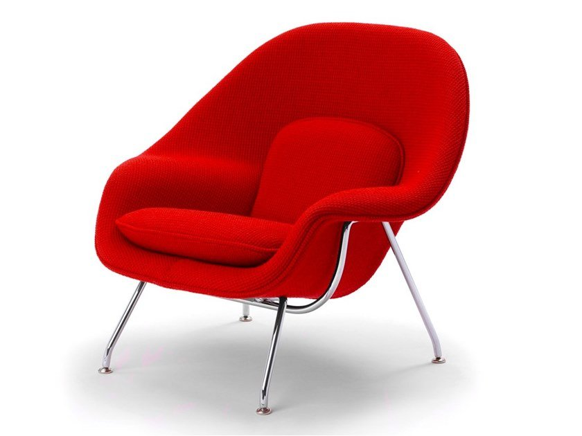 Fabric armchair with armrests WOMB™ CHAIR by KNOLL
