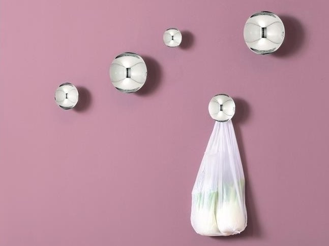 Wall-mounted stainless steel coat rack WOMP by HIRO