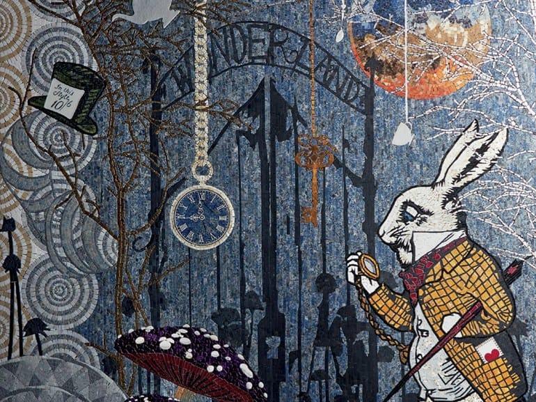 Marble mosaic WONDERLAND by Lithos Mosaico Italia