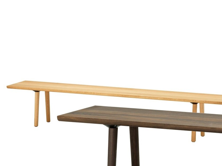 Solid wood bench WOOD BENCH by Vitra