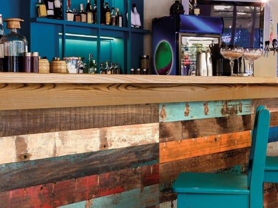 Indoor wooden wall tiles WOOD DECK by BOXER