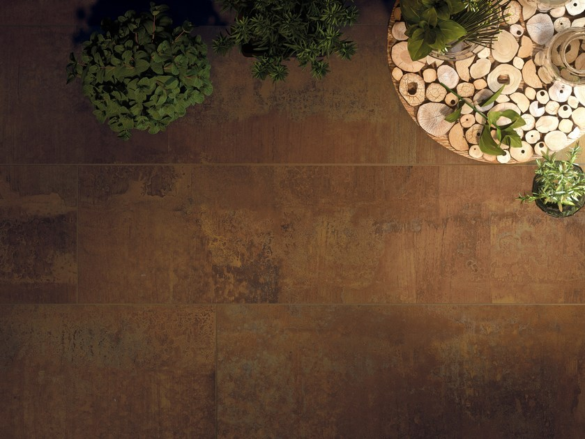 Wall/floor tiles with metal effect ACIDIC WOOD by CERAMICA FONDOVALLE