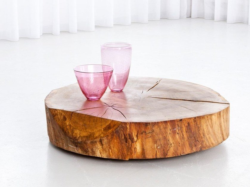 Low wooden coffee table for living room WOOD by Morgen