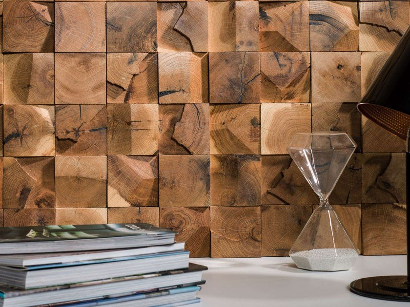Wooden 3D Wall Mosaic WOOD MOSAICS by L'antic Colonial