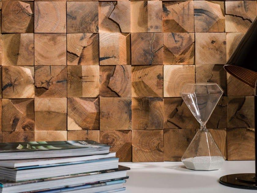 Mosaico con superficie tridimensionale in legno WOOD MOSAICS By L ...