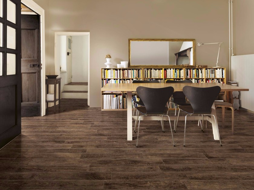 Glazed stoneware flooring with wood effect WOODCHALET by Ragno
