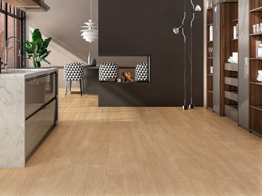 Laminated stoneware wall/floor tiles with wood effect WOODLAND - BOREAL by COTTO D'ESTE