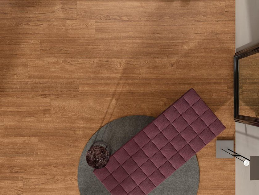 Pavimento/rivestimento ultrasottile in gres laminato effetto legno ...