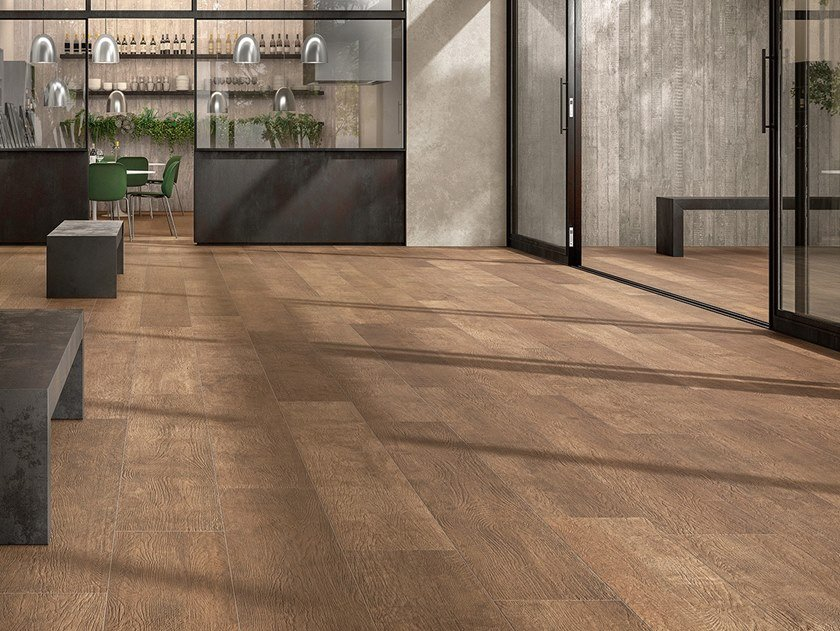 Laminated stoneware wall/floor tiles with wood effect WOODLAND - GROVE by COTTO D'ESTE