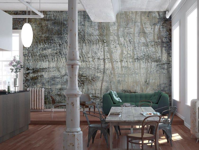 Rubber fire retardant Digital printing wallpaper WOODLAND by Tecnografica Italian Wallcoverings