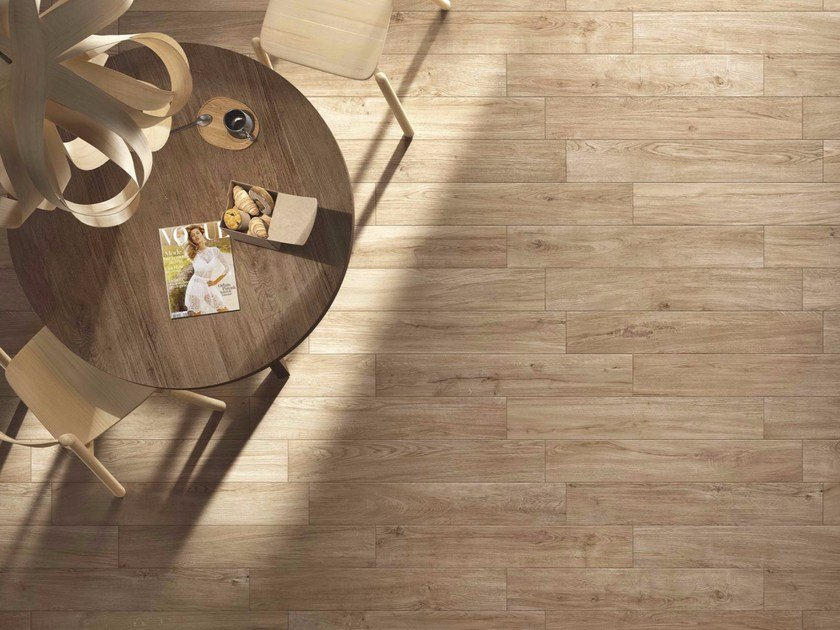 Glazed stoneware flooring with wood effect WOODPASSION by Ragno