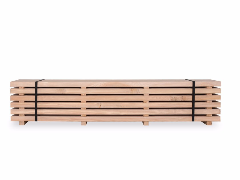 Cedarwood bench WOODPILE by Riva 1920