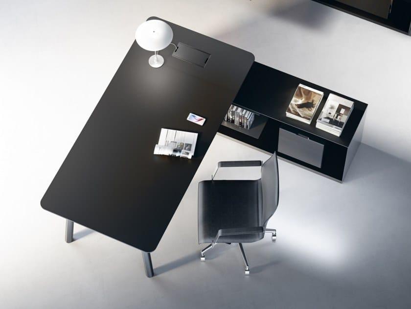 Woods Büro Schreibtisch Aus Fenix Ntm By Fantoni Design Metrica