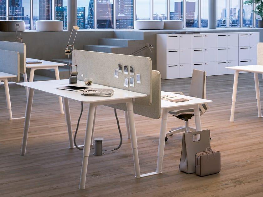 Multiple beech office workstation WOODS | Office workstation by FANTONI