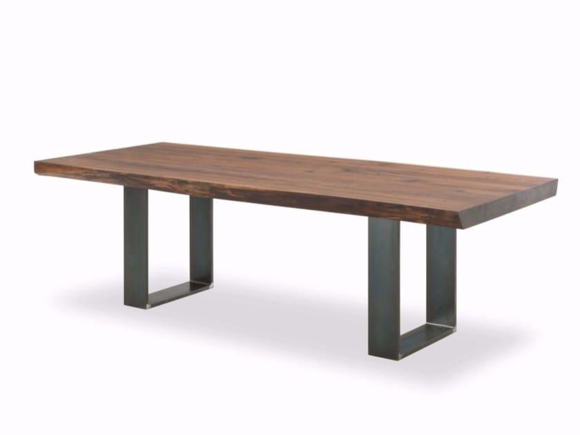 Tavolo rettangolare in legno e ferro WOODSTOCK-NEWTON BASE ...