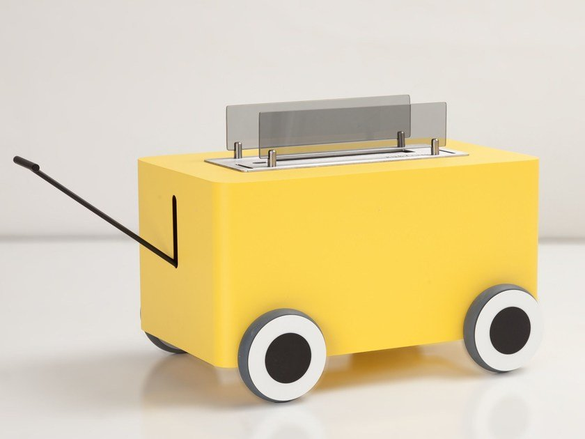 Caminetto free standing in acciaio a bioetanolo WOODY | Caminetto a bioetanolo by CAR-MET
