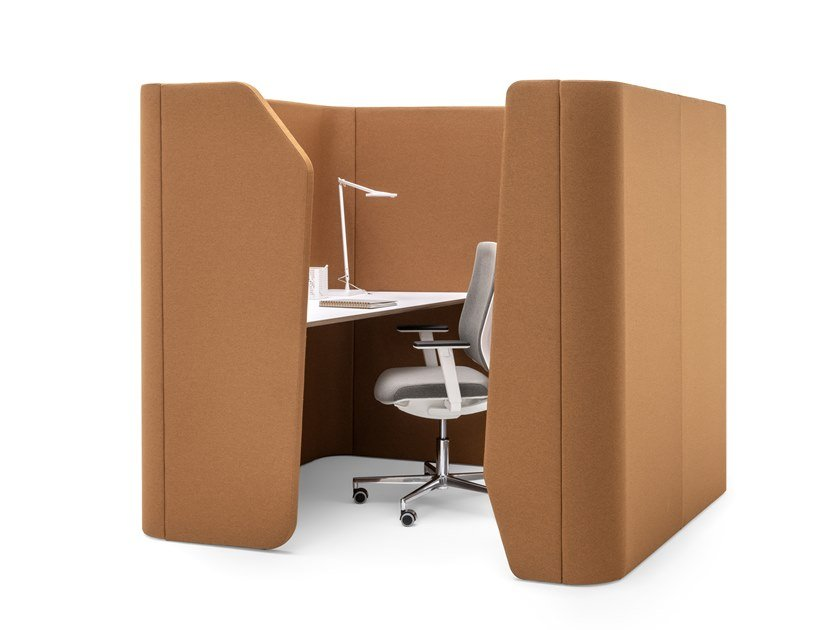 Acoustic fabric office booth WORKSTATION by ESTEL GROUP