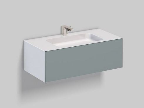 Single wall-mounted Cotton paper vanity unit WP.FOLIO3 by Alape