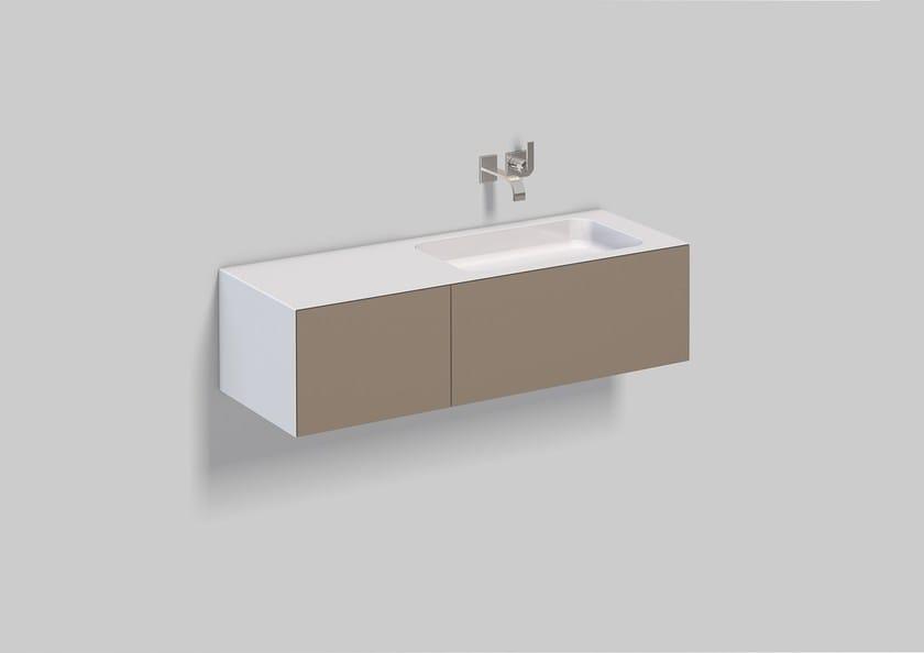 Spazio lavabo in acciaio vetrificato WP.Folio10 by Alape