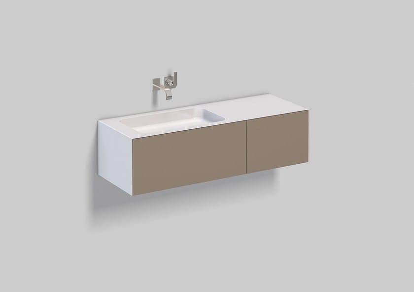 Spazio lavabo in acciaio vetrificato WP.Folio8 by Alape
