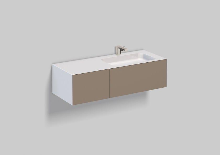 Spazio lavabo in acciaio vetrificato WP.Folio9 by Alape