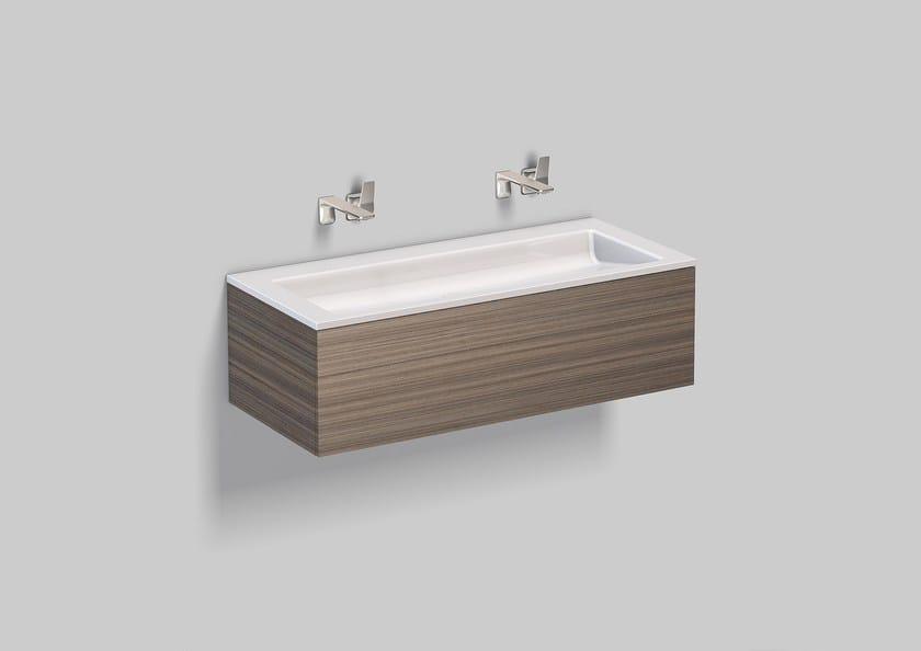Washplace from glazed steel WP.Twice2 by Alape