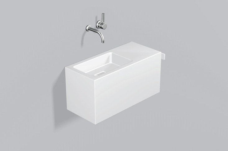 Washplace from glazed steel WP.XS3 by Alape