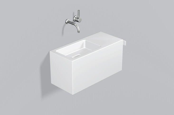 Spazio lavabo in acciaio vetrificato WP.XS3 by Alape