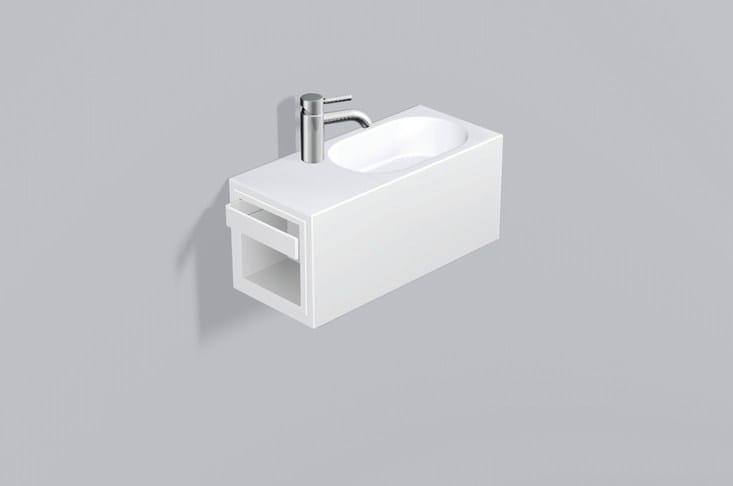 Washplace from glazed steel WP.XXS2 by Alape