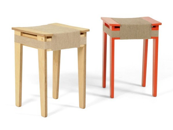 Multi-layer wood stool WRAPPED by Vij5