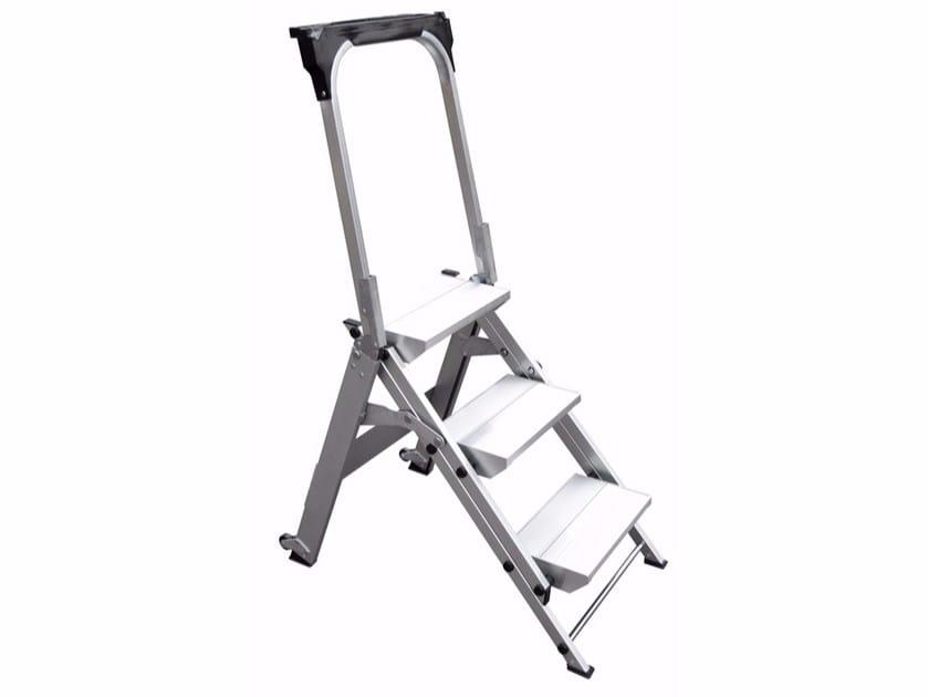 Aluminium heavy duty ladder WT by Frigerio Carpenterie