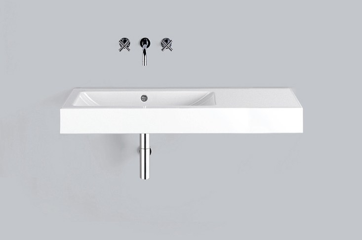 Washstand from glazed steel WT.GR1250.L/R by Alape