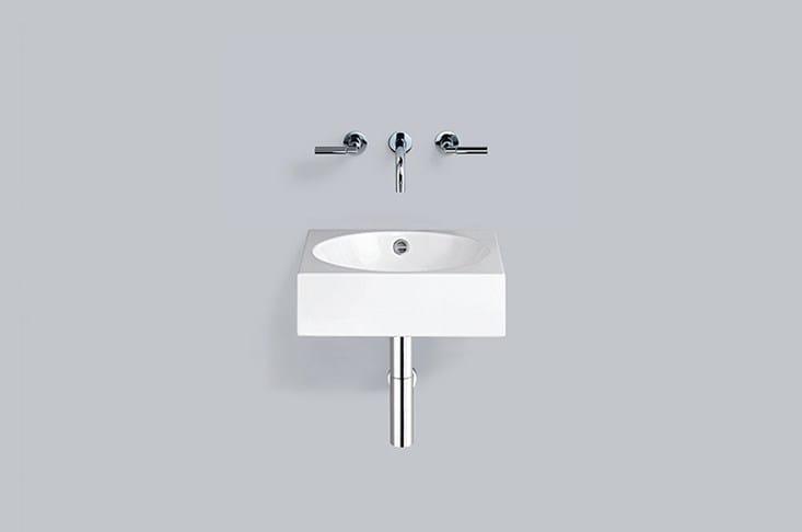 Washstand from glazed steel WT.MC450 by Alape