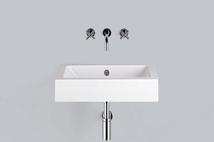 Washstand from glazed steel WT.PR585 by Alape