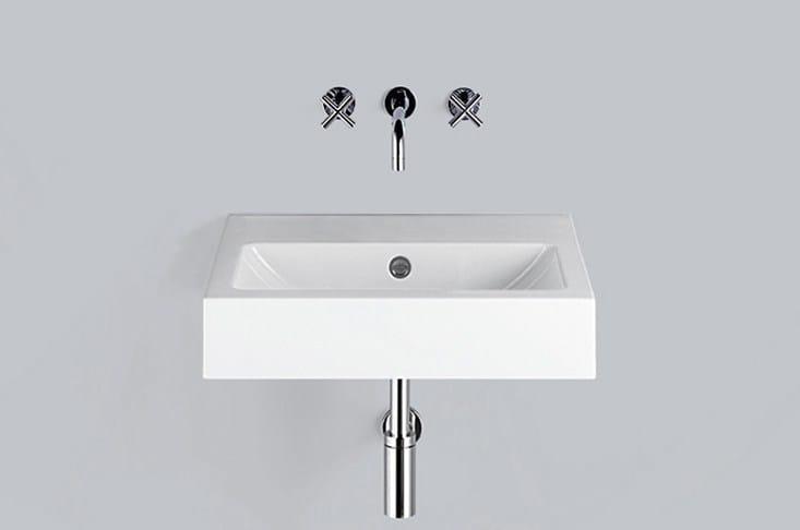 Washstand from glazed steel WT.PR600 by Alape
