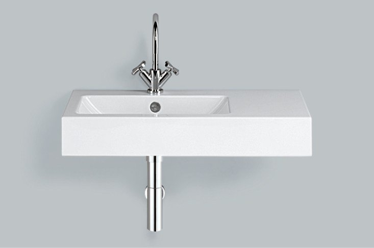 Washstand from glazed steel WT.PR800H.L/R by Alape