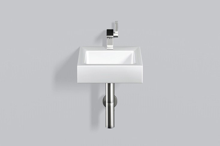 Washstand from glazed steel WT.QS325H by Alape
