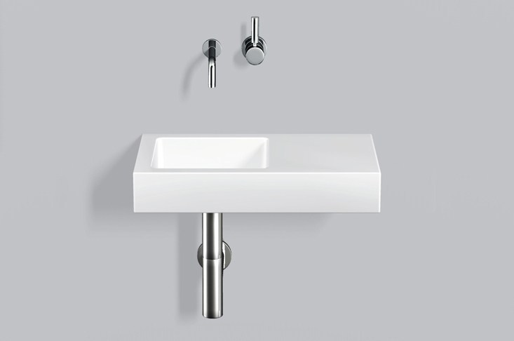 Washstand from glazed steel WT.QS525.L/R by Alape