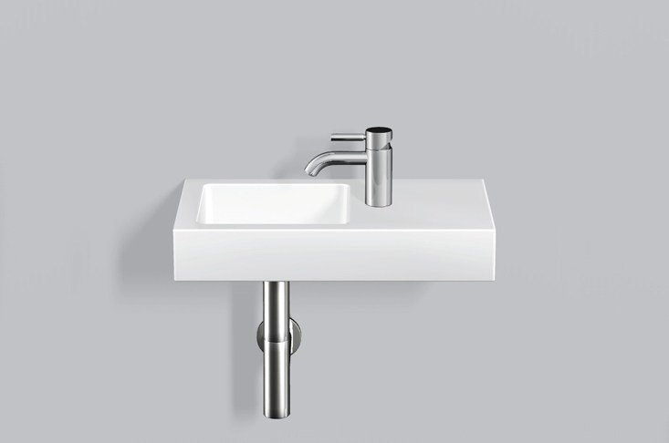 Washstand from glazed steel WT.QS525H.L/R by Alape