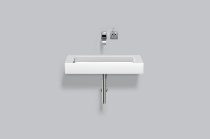 Washstand from glazed steel WT.RE800 by Alape