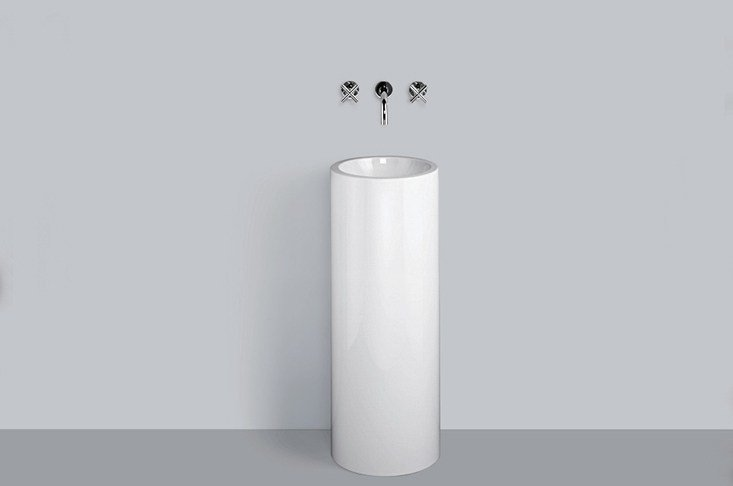 Washstand from glazed steel WT.RX325K by Alape