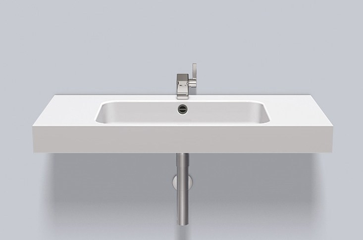 Washstand from glazed steel WT.SR1000H by Alape