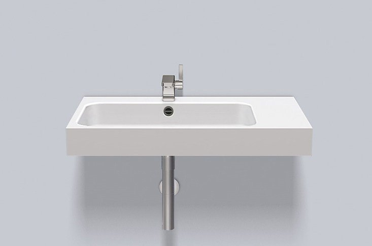 Washstand from glazed steel WT.SR800H.L/R by Alape