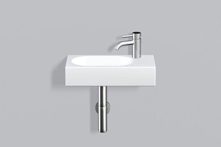 Washstand from glazed steel WT.XXS450H.L/R by Alape