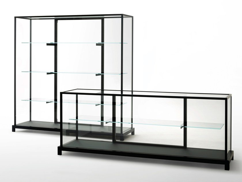 Crystal display cabinet WUNDERKAMMER by Glas Italia