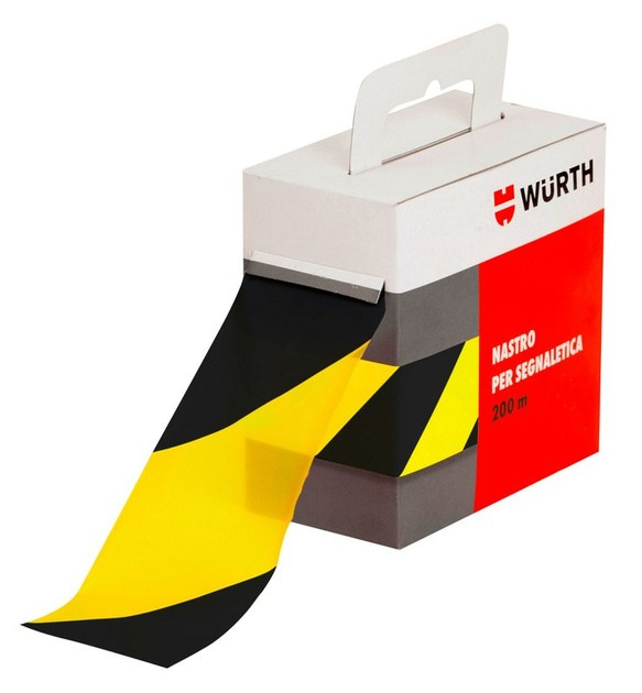nastro segnaletico giallo nero wurth