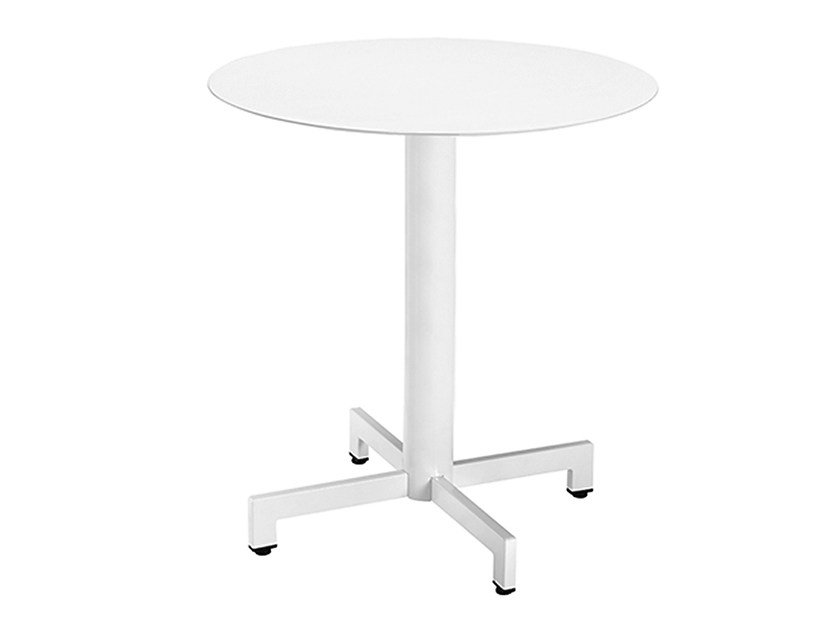 Round steel contract table Web 466 by Metalmobil